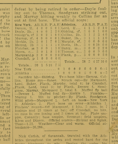 1911-World-Series-Game-2-Box-Score